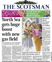 The Scotsman (UK) Newspaper Front Page for 1 September 2015