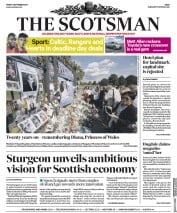 The Scotsman (UK) Newspaper Front Page for 1 September 2017