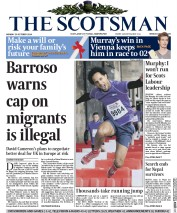The Scotsman (UK) Newspaper Front Page for 20 October 2014