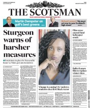 The Scotsman (UK) Newspaper Front Page for 20 October 2020