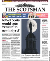 The Scotsman (UK) Newspaper Front Page for 20 November 2018