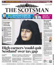 The Scotsman (UK) Newspaper Front Page for 20 February 2019