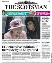 The Scotsman (UK) Newspaper Front Page for 20 March 2019