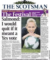 The Scotsman (UK) Newspaper Front Page for 20 August 2014