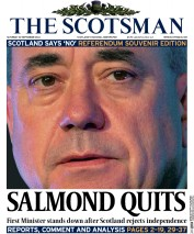 The Scotsman (UK) Newspaper Front Page for 20 September 2014