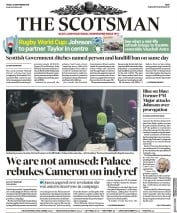 The Scotsman (UK) Newspaper Front Page for 20 September 2019