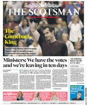 The Scotsman (UK) Newspaper Front Page for 21 October 2019
