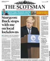 The Scotsman front page for 21 October 2020