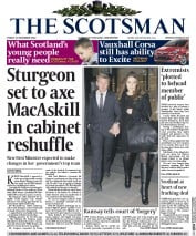 The Scotsman (UK) Newspaper Front Page for 21 November 2014
