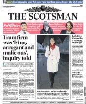 The Scotsman (UK) Newspaper Front Page for 21 November 2017