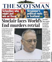 The Scotsman Newspaper Front Page (UK) for 21 December 2012