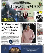 The Scotsman (UK) Newspaper Front Page for 21 December 2019