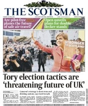 The Scotsman (UK) Newspaper Front Page for 21 April 2015