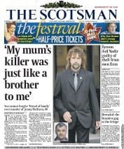 The Scotsman () Newspaper Front Page for 21 August 2012