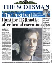 The Scotsman (UK) Newspaper Front Page for 21 August 2014