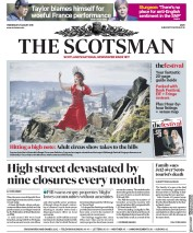 The Scotsman (UK) Newspaper Front Page for 21 August 2019