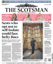 The Scotsman front page for 21 September 2020