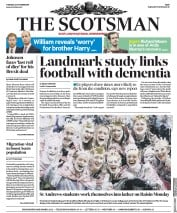 The Scotsman (UK) Newspaper Front Page for 22 October 2019