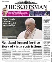 The Scotsman front page for 22 October 2020