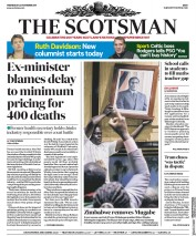 The Scotsman (UK) Newspaper Front Page for 22 November 2017