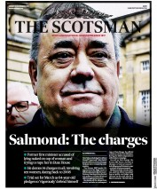 The Scotsman (UK) Newspaper Front Page for 22 November 2019