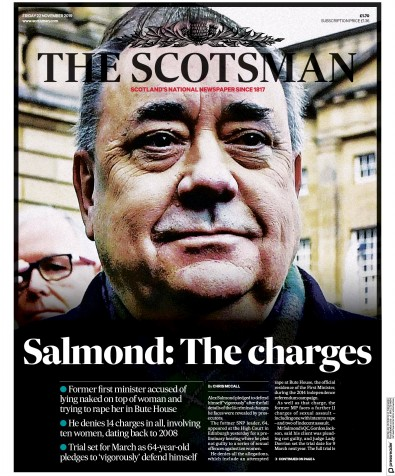 The Scotsman Newspaper Front Page (UK) for 22 November 2019