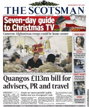 The Scotsman Newspaper Front Page (UK) for 22 December 2012