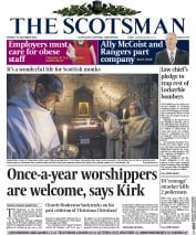 The Scotsman (UK) Newspaper Front Page for 22 December 2014