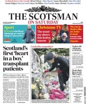 The Scotsman (UK) Newspaper Front Page for 22 December 2018