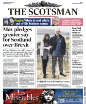 The Scotsman (UK) Newspaper Front Page for 22 January 2019