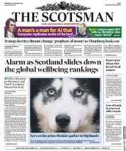 The Scotsman (UK) Newspaper Front Page for 22 January 2020