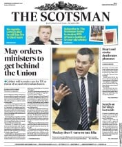 The Scotsman (UK) Newspaper Front Page for 22 February 2017