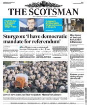 The Scotsman (UK) Newspaper Front Page for 22 March 2017