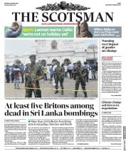 The Scotsman (UK) Newspaper Front Page for 22 April 2019