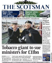The Scotsman (UK) Newspaper Front Page for 22 May 2015