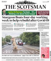 The Scotsman front page for 22 May 2020