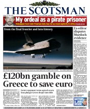The Scotsman Newspaper Front Page (UK) for 22 July 2011