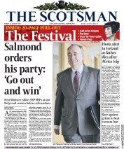 The Scotsman (UK) Newspaper Front Page for 22 August 2014