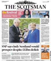 The Scotsman (UK) Newspaper Front Page for 22 August 2019