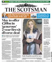 The Scotsman (UK) Newspaper Front Page for 22 September 2017