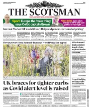 The Scotsman front page for 22 September 2020