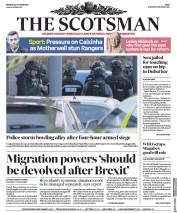 The Scotsman (UK) Newspaper Front Page for 23 October 2017