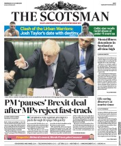 The Scotsman (UK) Newspaper Front Page for 23 October 2019