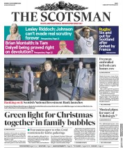 The Scotsman front page for 23 November 2020
