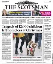 The Scotsman (UK) Newspaper Front Page for 23 December 2019