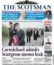 The Scotsman (UK) Newspaper Front Page for 23 May 2015