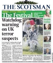 The Scotsman (UK) Newspaper Front Page for 23 August 2014