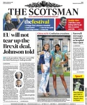 The Scotsman (UK) Newspaper Front Page for 23 August 2019