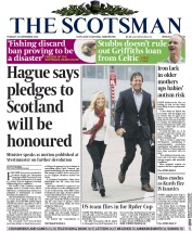 The Scotsman (UK) Newspaper Front Page for 23 September 2014