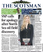 The Scotsman (UK) Newspaper Front Page for 24 October 2014